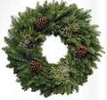 Mixed Cone wreath 20""
